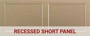 Recessed short panel