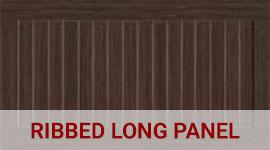 Ribbed long panel