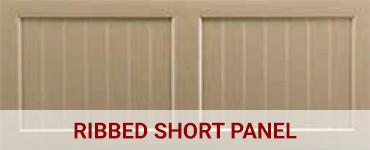 Ribbed short panel
